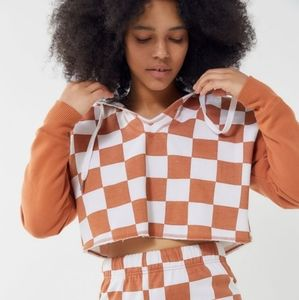 Out From Under Checkmate Cropped Hoodie